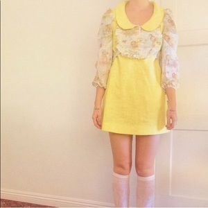 Dresses & Skirts - Vintage 60's super sweet mini dress